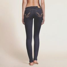 Hollister Bryden Skinny Jeans  Rich dark color, iconic back pocket stitching, Skinny fit, Low rise waist, Rinse, Imported Inseam (inches): Short: 30.  Great fit. Nice for tall, thin teens. Highly recommended!  Hollister Jeans Skinny