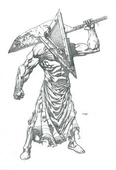 Pyramid Head by MoonLunatik on DeviantArt