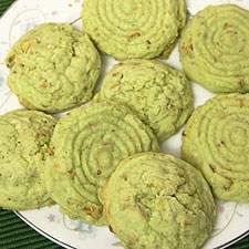 Green energy, green business practices, green gifts… everything's going green these days! Including these taste-tempting green pistachio cookies, the ideal St. Patrick's Day treat. P.S. Step-by-step photos illustrating how to make these cookies are available at  Bakers' Banter,  our King Arthur blog.
