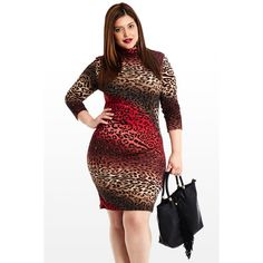 f4e1237c27 Plus size this and cat animal print Animal Print Plus Size Dresses