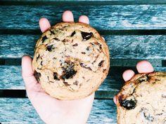 { giant salted dark chocolate + olive oil cookies }