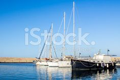 #yachts#moored in a #harbor royalty-free stock photo