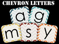 """FREE - chevron letters, striped letters, polka dot letters (two styles), and black/white letters...this is fantastic!!!!! Originally made for a """"boggle board"""", to get a sense of the size."""