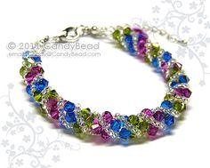 Swarovski Bracelet, Berry Twisty Swarovski Crystal by CandyBead