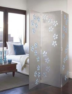 Love this DIY room divider for a great way to use a favorite fabric