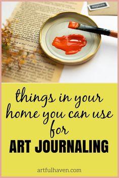 Art Journal Pages, Junk Journal, Art Journals, Notebook Art, Tape Art, Art Journal Inspiration, Household Items, Diy Art, Collages
