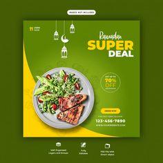 Special ramadan food banner template | Premium Psd #Freepik #psd #food #menu #template #restaurant Food Graphic Design, Food Menu Design, Food Poster Design, Web Design, Veg Restaurant, Restaurant Poster, Restaurant Recipes, Ramadan Recipes, Ramadan Food