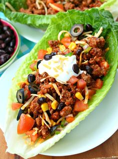 Turkey Taco Lettuce Wraps: This meal is full of lean protein and savory vegetables, perfect for your next Mexican night!