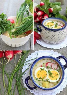 Polish Recipes, Polish Food, Cheeseburger Chowder, Ramen, Soup Recipes, Cantaloupe, Good Food, Food And Drink, Healthy Eating