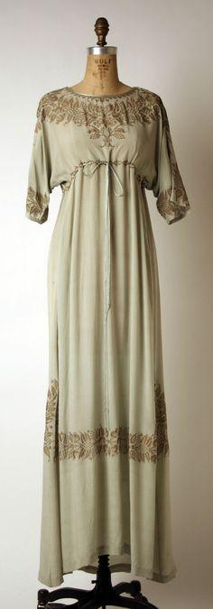 Evening Dress, Mariano Fortuny (Spanish, Granada 1871–1949 Venice) for Fortuny (Italian, founded 1906): early 20th century, Italian, silk.