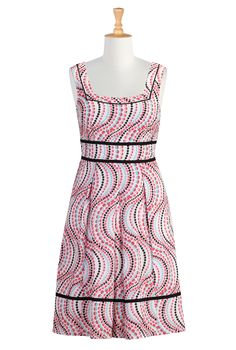 Polka Dot Print Dresses, Retro Fit-And-Flare Dresses Shop women's designer clothing: Dresses, Blouses, Shirts and Skirts - | eShakti.com