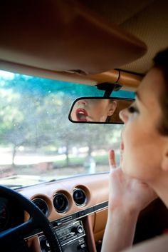 lippie in the car.