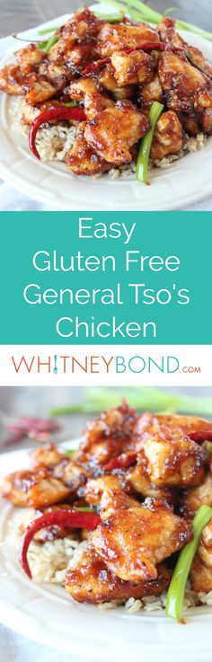 This gluten free recipe for General Tso's Chicken is easy to make in only 15 minutes, and even better than Chinese takeout!