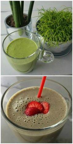 Simple Thoughts - Groene smoothie banaan spinazie en aardbei spinazie