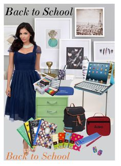 """""""Back to School Supplies"""" by farzija-duzel ❤ liked on Polyvore featuring art and BackToSchool"""