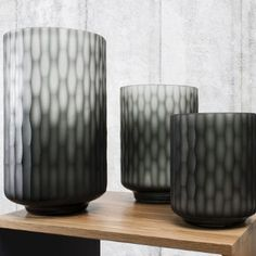 Aubrey Carved Glass Vase, Various Sizes Cut Glass, Glass Vase, Home Accessories Uk, My Ideal Home, Curved Glass, Grey Glass, Scandi Style, Vintage Shabby Chic, Shabby Chic Furniture