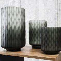 Aubrey Carved Glass Vase, Starting from £39 | brandinteriors.co.uk