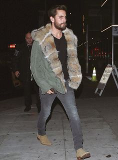 Scott Disick Out At The Nice Guy Wears Ermanno Scervino Fur Jacket And Saint Laurent Jeans | UpscaleHype