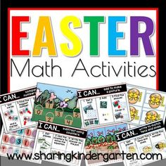 Kindergarten Easter math activities