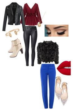 """""""Date nights"""" by segura-priscilla on Polyvore featuring Alexander McQueen, Jimmy Choo, COSTUME NATIONAL, Boutique Moschino and Kendra Scott"""