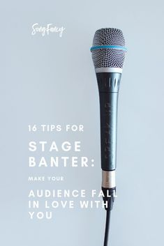 16 Tips for Stage Banter: Make Your Audience Fall In Love With You Songwriting tips and creative inspiration for the contemporary songwriter. Learn how to write a song, how to write lyrics, and how to write your best songs. Singing Lessons, Singing Tips, Learn Singing, Singing Career, New Music, Good Music, Writing Lyrics, Music Writing, Start Writing