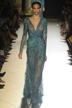 Elie Saab Couture Fall 2012.  I LOVE this color, but I have to have something under neath the dress.  I don't share.  lol