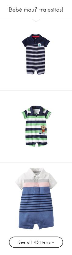 """Bebé mau💕 trajesitos!"" by ale-tapia ❤ liked on Polyvore featuring boys, multi, baby, baby boy, baby clothes, baby shorts, baby stuff, navy, kids apparel playsuits and heather gray"