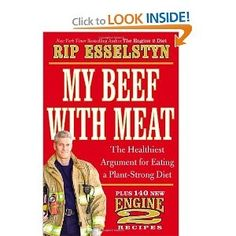 My Beef with Meat: The Healthiest Argument for Eating a Plant-Strong Diet. Designed by a Texas Firefighter #gift #vegan #vegetarian #healthy #fathersday #giftidea #viovio