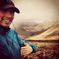 Thumbs-up for the Scottish hills from Arc'athlete Murray Strain