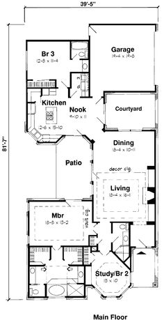 Floor plan first story dream home pinterest basement for European house plans with basement
