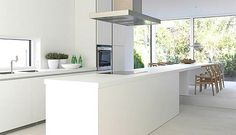 white kitchen island - www.bluetea.com.au