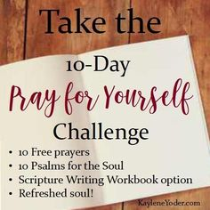 Do you pray for yourself? This prayer challenge will teach you how to pray godly character traits for yourself. Begin the beautiful transformation of maturity in Christ today!