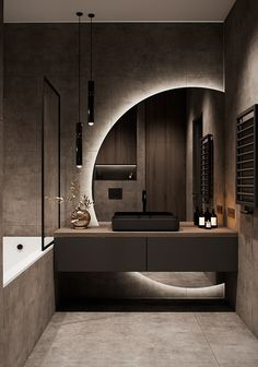 Bathroom Design Luxury, Modern Bathroom Design, Modern House Design, Modern Luxury Bathroom, Modern Apartment Design, Apartment Interior, Contemporary Bedroom Designs, Modern Mirror Design, Modern Tv Room