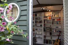 A writer's studio in a Suffolk Barn by Smart Garden Offices - http://www.workfromhomewisdom.com/2014/11/10/garden-office-spotlight-garden-building/