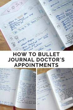 How To Bullet Journal Doctor's Appointments Bullet Journal Health, How To Bullet Journal, Bullet Journal Layout, Bullet Journal Inspiration, Bullet Journals, Chronic Illness, Chronic Pain, Chronic Fatigue, Journaling