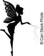 Vector Illustration Of Fairy Waving Her Wand Royalty Free Cliparts, Vectors, And Stock Illustration. Fairy Silhouette, Silhouette Portrait, Eps Vector, Vector Art, Vectors, Fairy Templates, Fairy Lanterns, Picture Icon, Artist Portfolio