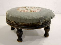 Reupholster Old Footstool