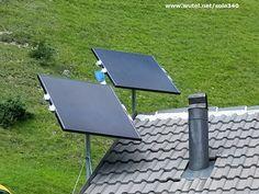 """Photovoltaic """"DIY"""" with """"CIS"""" panel in alpine house  http://www.wutel.net/sole340      Fotovoltaico """"fai-da-te"""" con pannelli """"CIS"""" in una baita di montagna."""