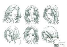 Collection of high quality Nana anime artbooks. Read Anime Manga, Manga Art, Character Sheet, Character Art, Yazawa Ai, Nana Manga, Nana Osaki, Facial Expressions Drawing, Drawing Sketches