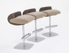 Bar stool / contemporary CURL BACK HB Group