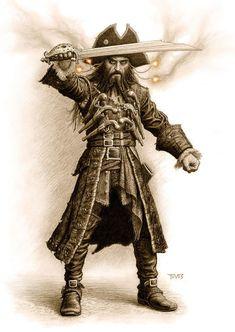 Blackbeard, (or should that be Blackboard? ) ;)