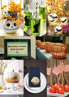 Fun #Halloween #Wedding Ideas Mood Board from The Wedding Community