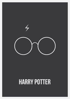 Harry Potter - Minimalist Posters by Nick Symeou, via Behance