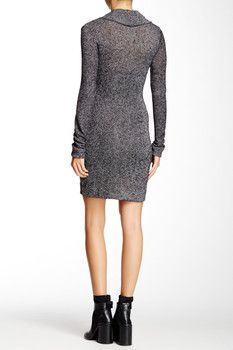 Go Couture Cowl Neck Sweater Dress