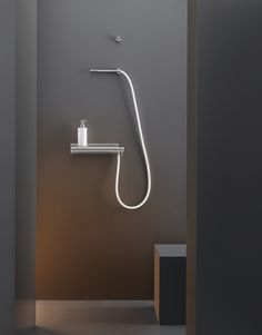 Wall mounted external mixer set with hand shower MIL 95 by Ceadesign S.r.l. s.u. design CEA DESIGN STUDIO