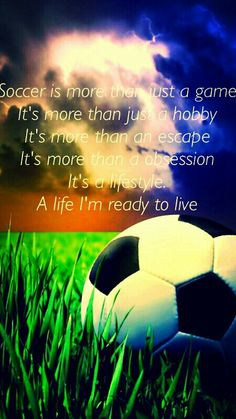 And Tricks To Play A Great Game Of Football Soccer girl for life!Soccer girl for life! Nike Soccer Quotes, Soccer Memes, Football Quotes, Soccer Tips, Sport Quotes, Soccer Girl Quotes, Soccer Sayings, Goalie Quotes, Athlete Quotes