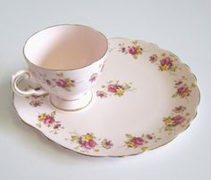 Vintage Tuscan China Tennis Cup and Plate Snack by TheWhistlingMan, £10.00  SOLD!