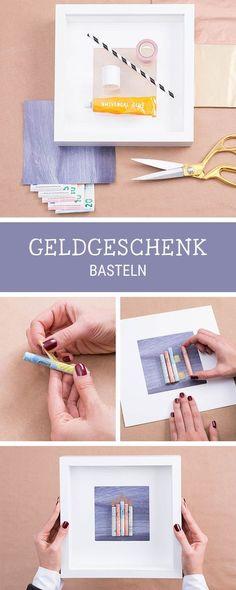 Geldgeschenk zur Hochzeit - DIY Geldscheine in Herzform | Basteln ...