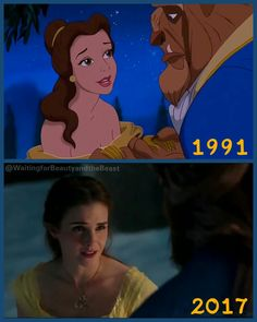 Collage by me. Beauty and the Beast 1991 vs Beauty and the Beast 2017