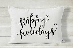 Happy Holidays Pillow Christmas Pillow Cover Holiday Pillow